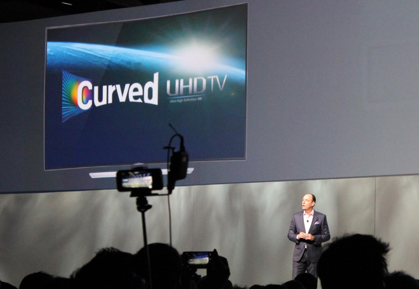 Unveiled at CES, Samsung claims its SUHD TVs offer a new standard in ultra high-definition viewing (Photo: Will Shanklin/Gizmag.com)