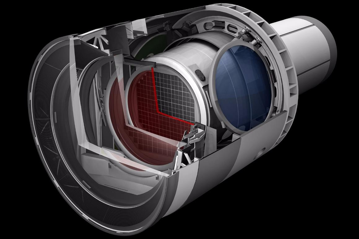 Rendering of the LSST camera, which will be the size of a small car and weigh more than 3 tons
