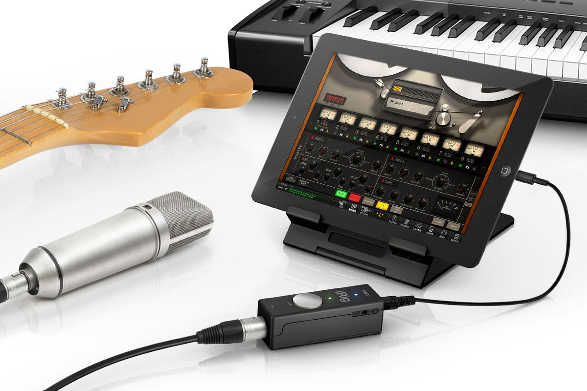 IK Multimedia's iRig PRO all-in-one universal audio/MIDI interface for iPhone, iPad, iPod touch and Mac