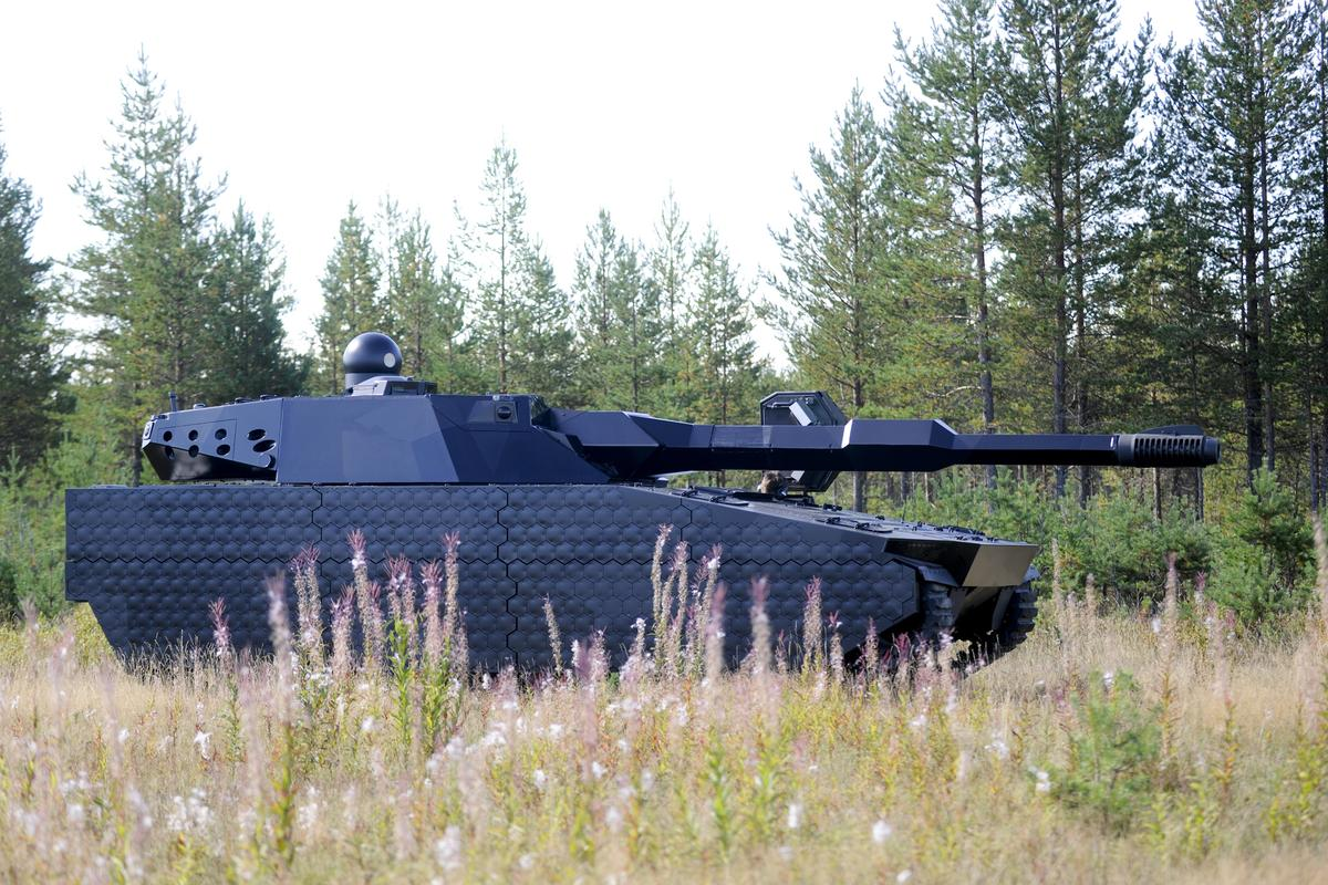 A CV90 Swedish infantry fighting vehicle fitted with the ADAPTIV panels (Image: BAE Systems)