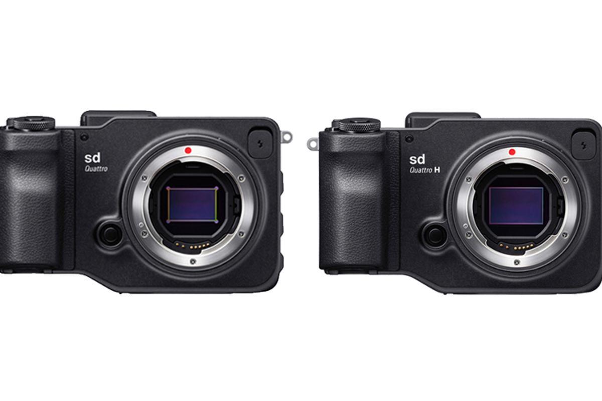 The Sigma sd Quattro and sd Quattro H are mirrorless cameras which use the firm's Foveon X3 (Quattro generation) image sensor