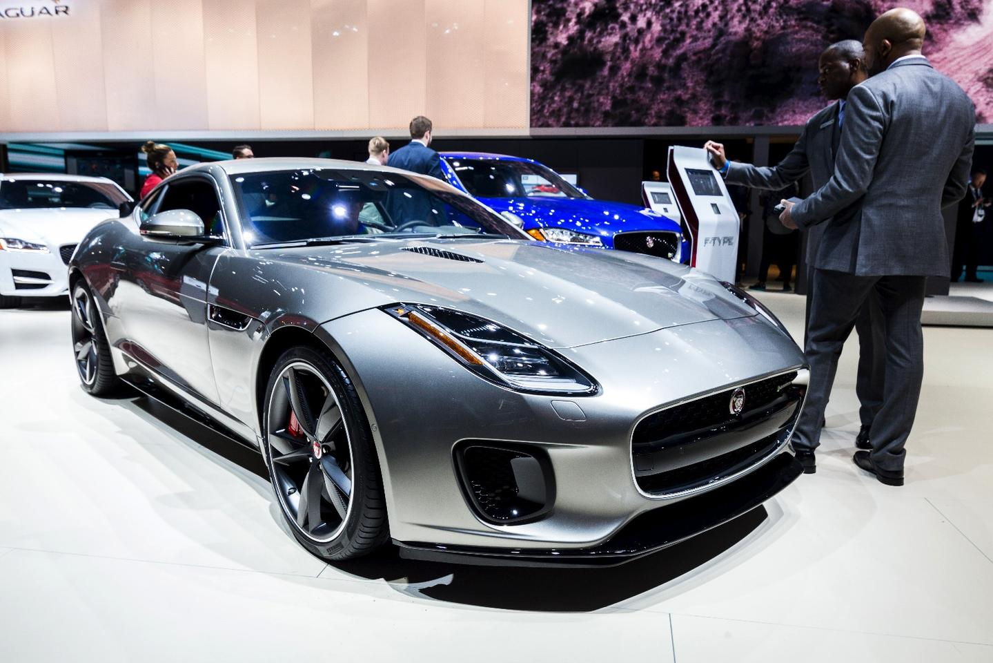 Jaguar shows the 2018 F-Type four-cylinder at the 2017 New York Auto Show