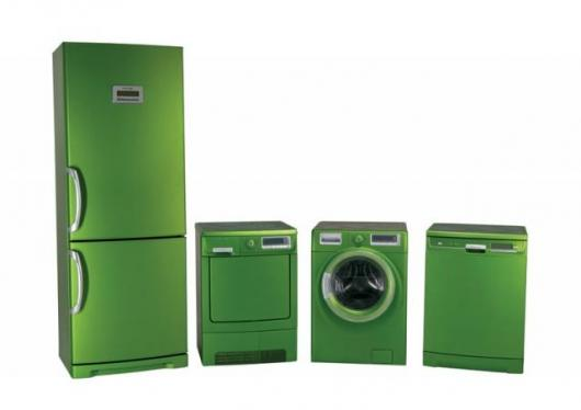 "Electrolux ""whitegoods"" in frosted green"