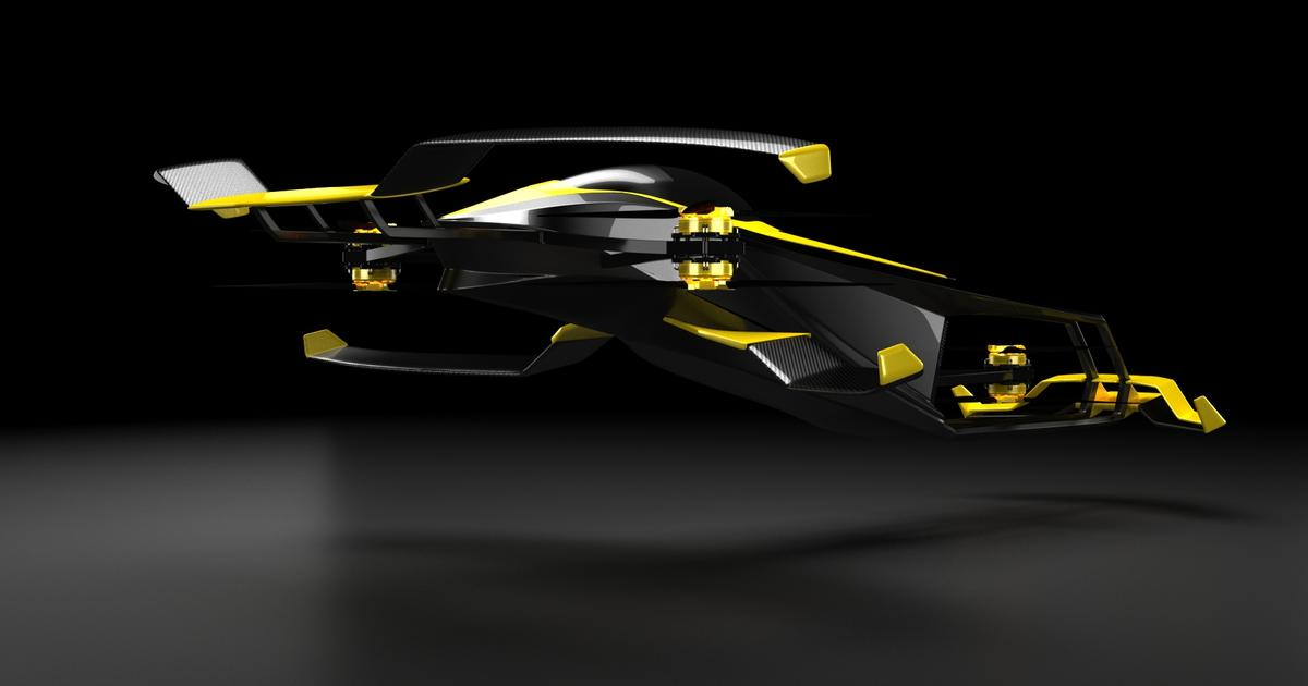 Hydrogen-electric flying car looks to take F1 racing airborne