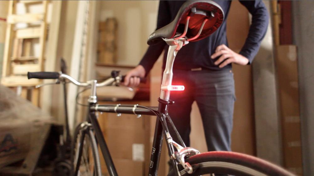 The Blink/Steady Bike Light can be seen over a range of 180 degrees