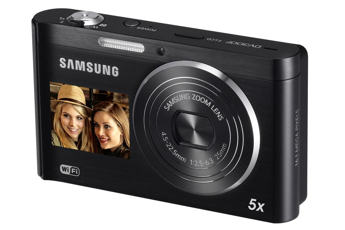 Samsung's new DV300F is its first DualView camera to come with inbuilt Wi-Fi connectivity