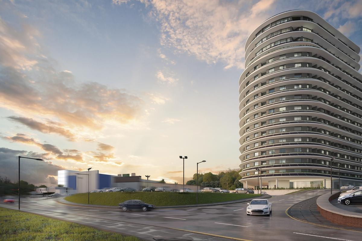 The Beacon apartment tower will be located in the UK town of Hemel Hempstead