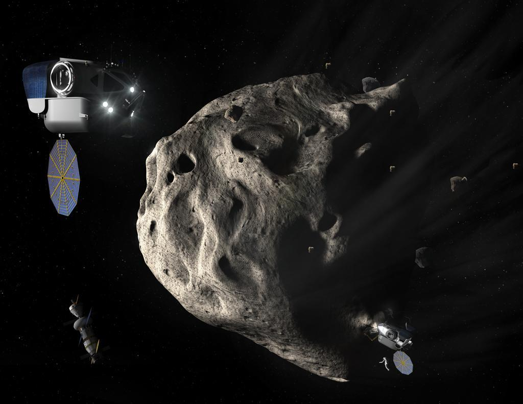 The EML-2 station could be used as a staging area for exploring near-Earth asteroids (Image: NASA)