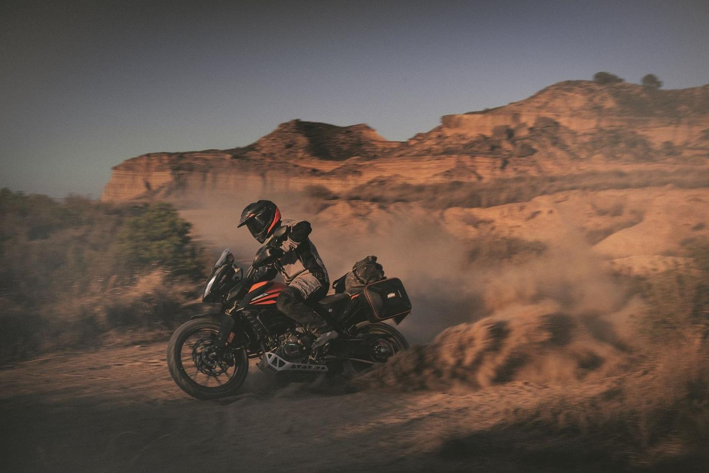 The 2020 KTM 390 Adventure is a highly approachable on/off road tourer