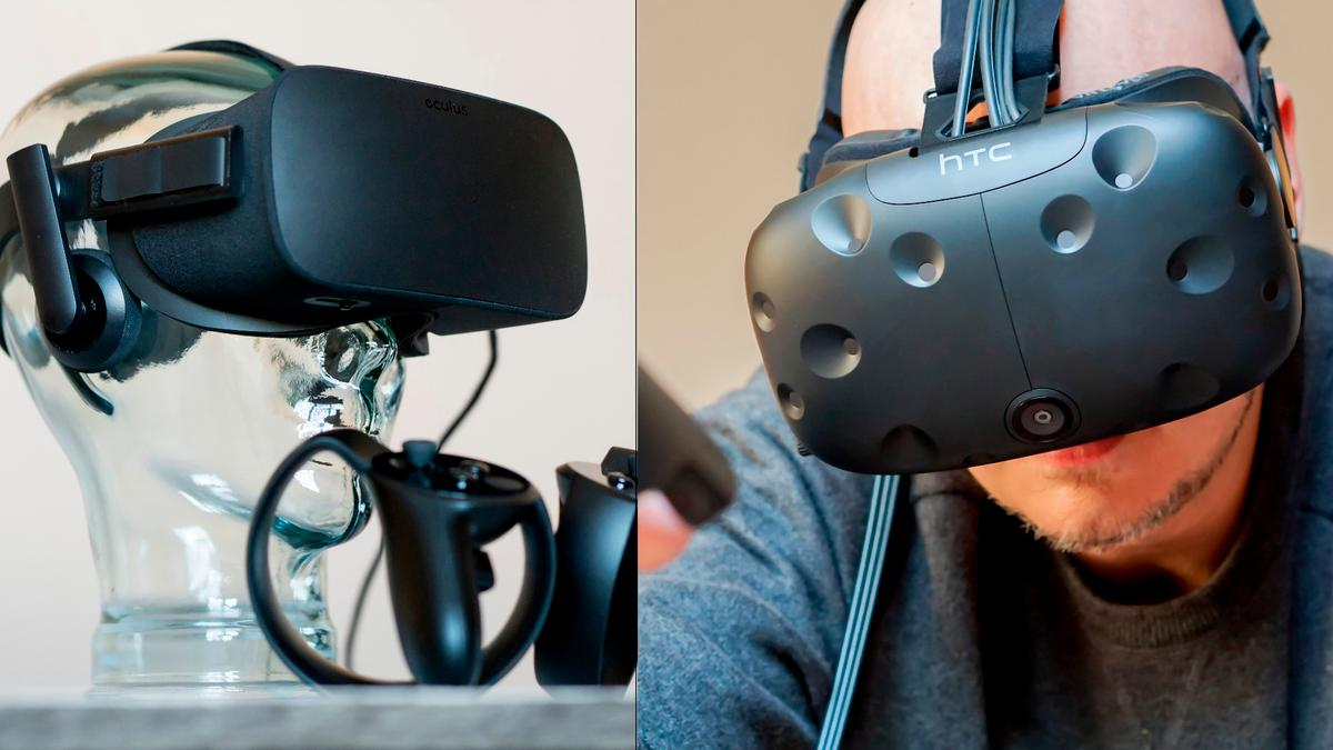 New Atlas has spent the better part of the last year with the Oculus Rift (left) and HTCVive – this is our latest buying advice