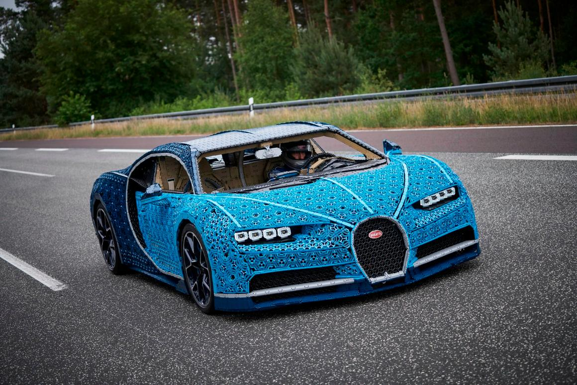 The test drive of the LegoChiron took place at the Ehra Lessien proving grounds in Germany