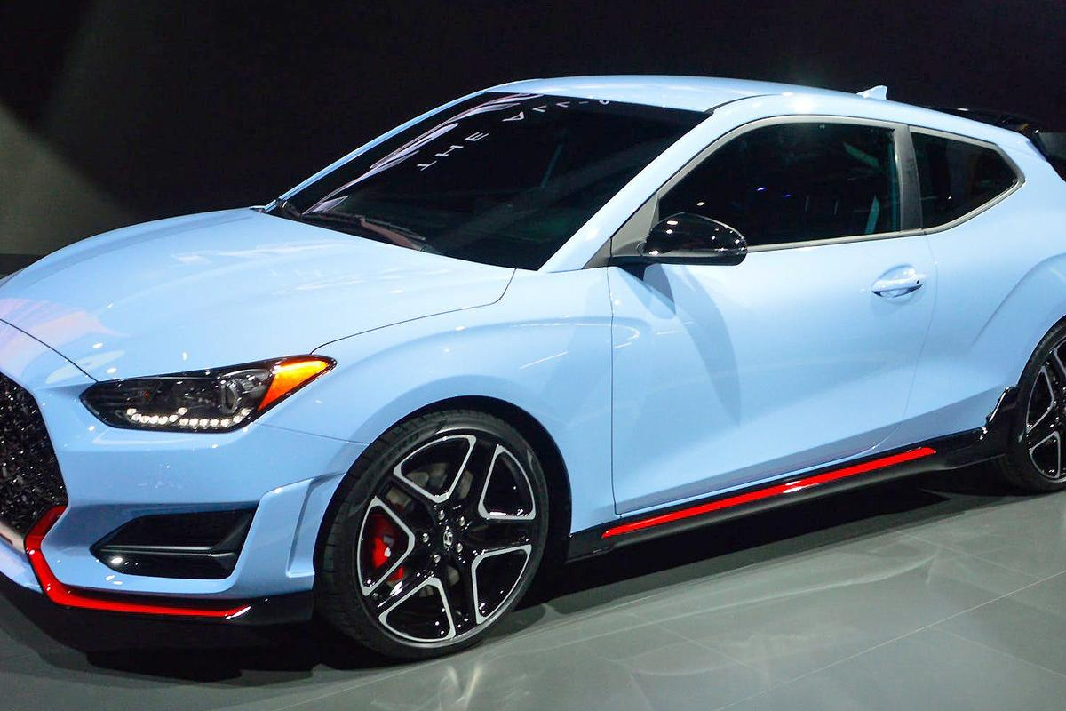 Thenew 2019 Hyundai Veloster features both a special Turbo and a high-performance N variant (shown here)