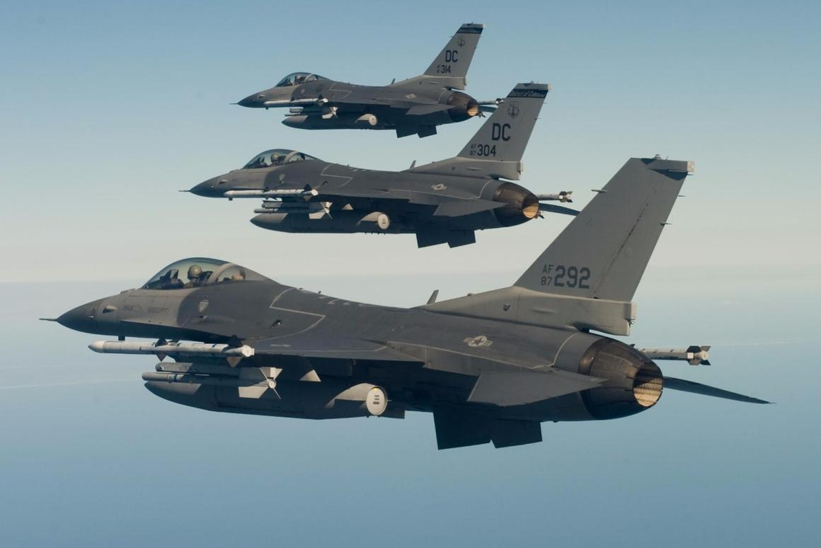 The purpose of theHave Raider II demonstrationwas to test the ability of an unmanned F-16 to operate alongside manned fighterssimilar to these