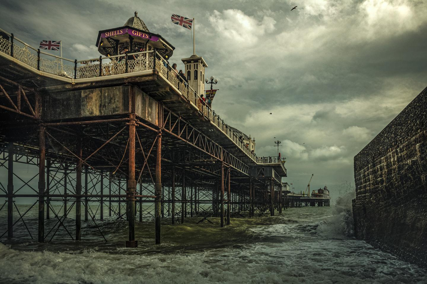 Historic Photographer of the Year. Overall Winner. The Brighton Palace Pier