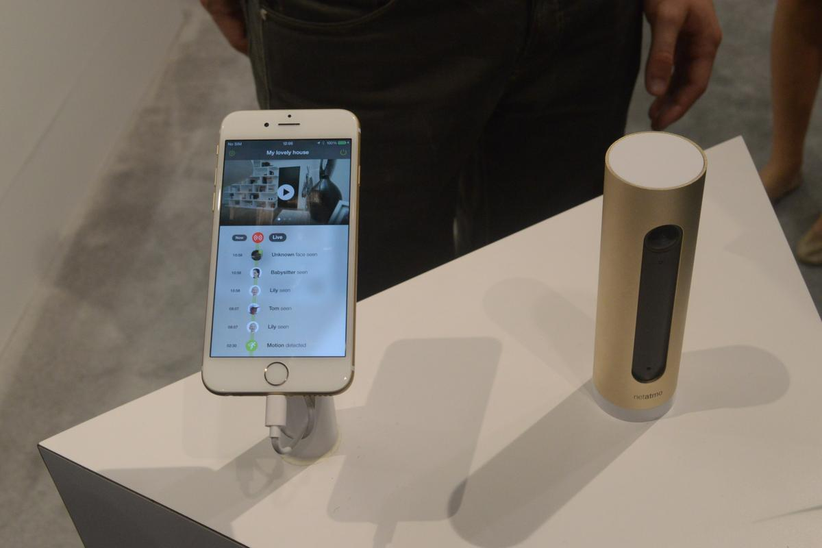 The Netatmo Welcome, seen here at CES 2015, is a home security camera that recognizes the people who live there (Photo: C.C. Weiss / Gizmag)