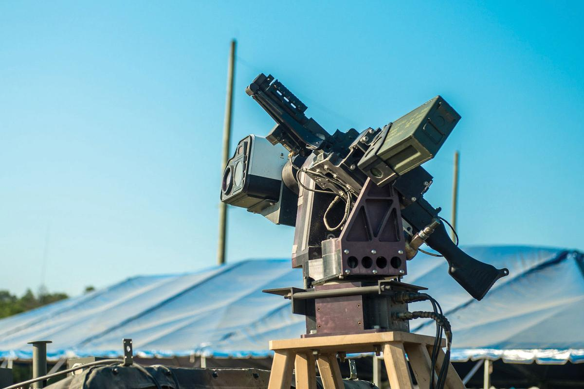 """An early iteration of autonomous weaponry from the new US program dubbed """"Wingman"""" that isdeveloping automatic target detection systems"""
