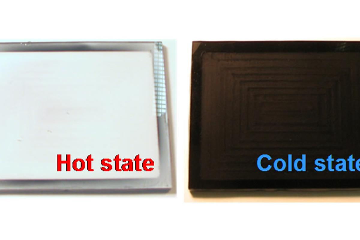 The 'Thermeleon' roof tile changes from white to black depending on its temperature