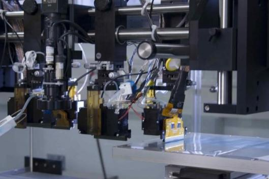 NANOIDENT OFAB: Inkjet heads and high precision X-Y table of material deposition system