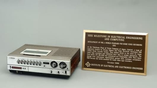 The day saw Victor Company of Japan (JVC) awarded a prestigious IEEE milestone for development of the VHS Video