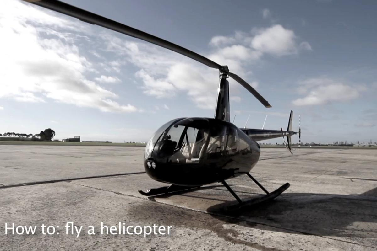 Flying a helicopter isn't just fun, it's also not that hard