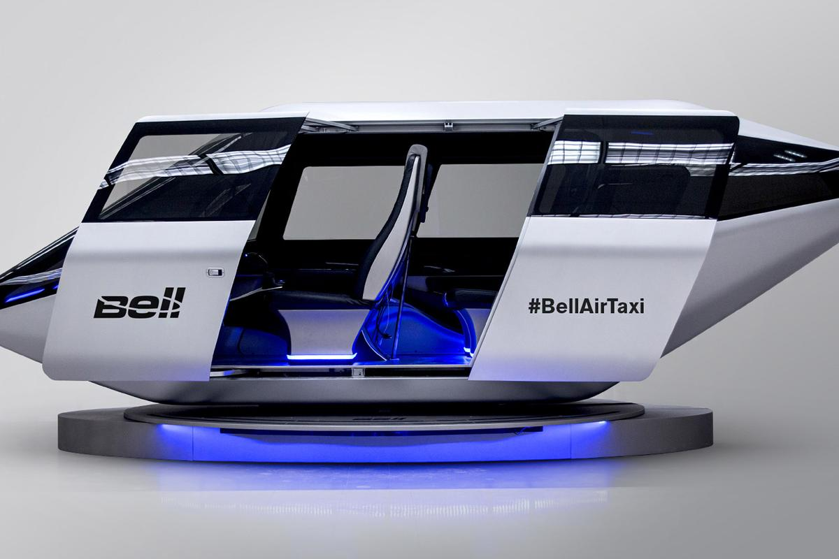 Bell Helicopter has dropped into CES in Las Vegas this week with a flying taxi cabin design