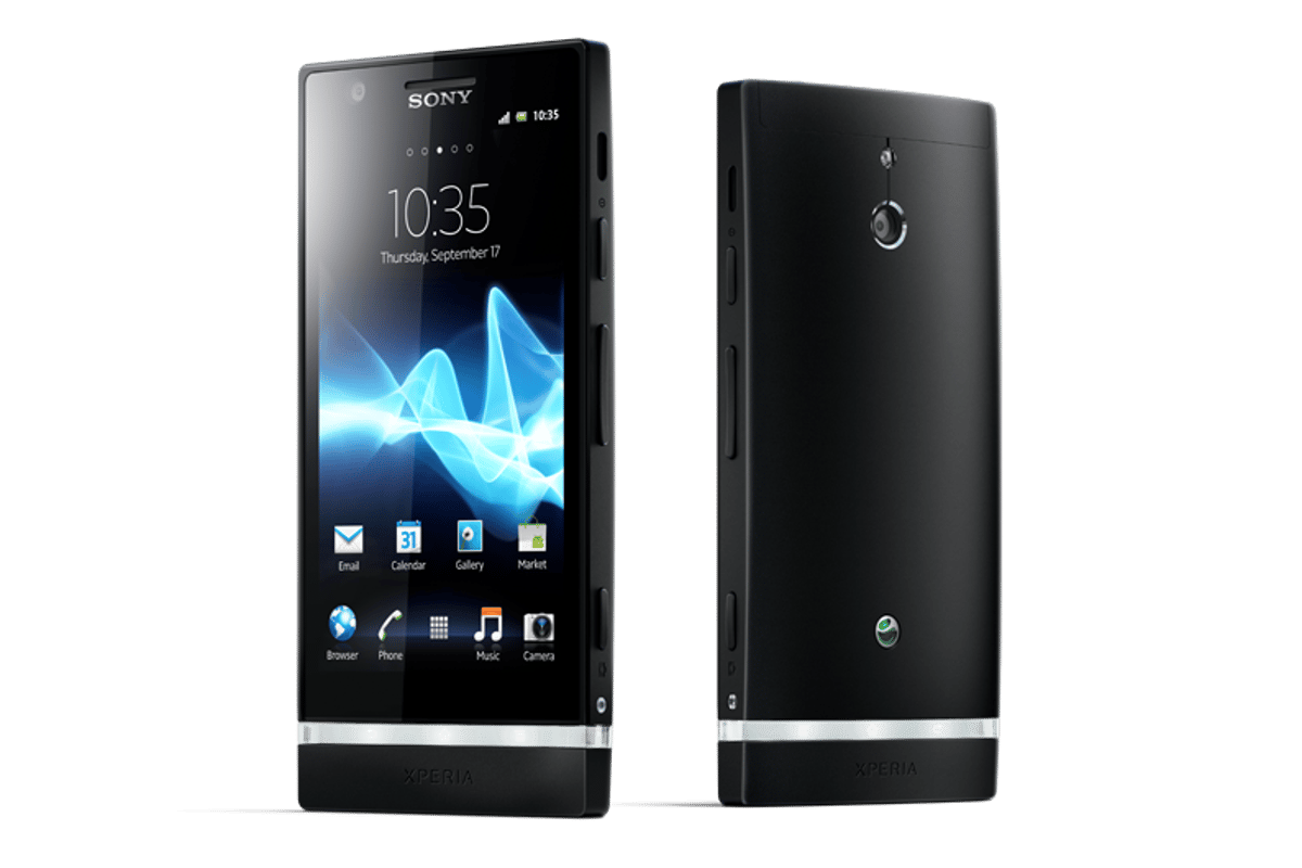 The Xperia U and Xperia P (pictured) join Sony's NXT series of Xperia smartphones
