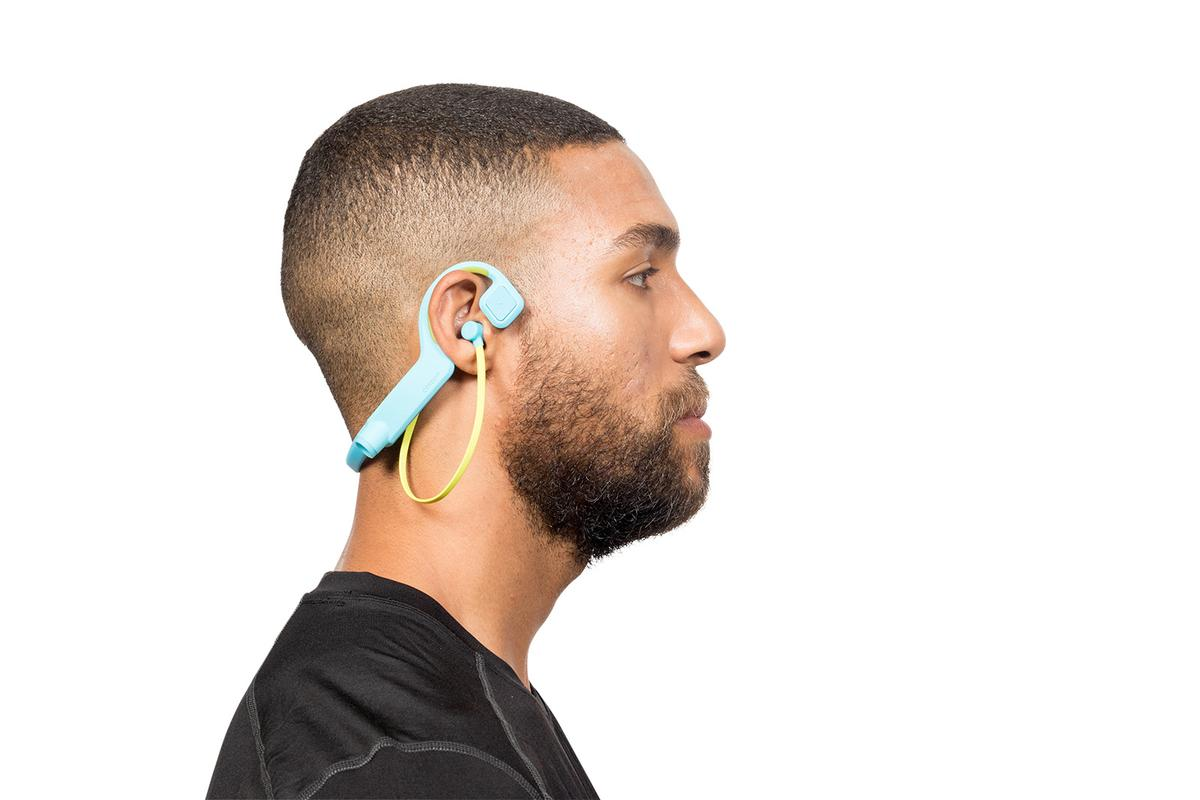 The Conduit Sports headphones offer off-ear bone conduction music listening, an in-ear bud-type experience, or a combination of both