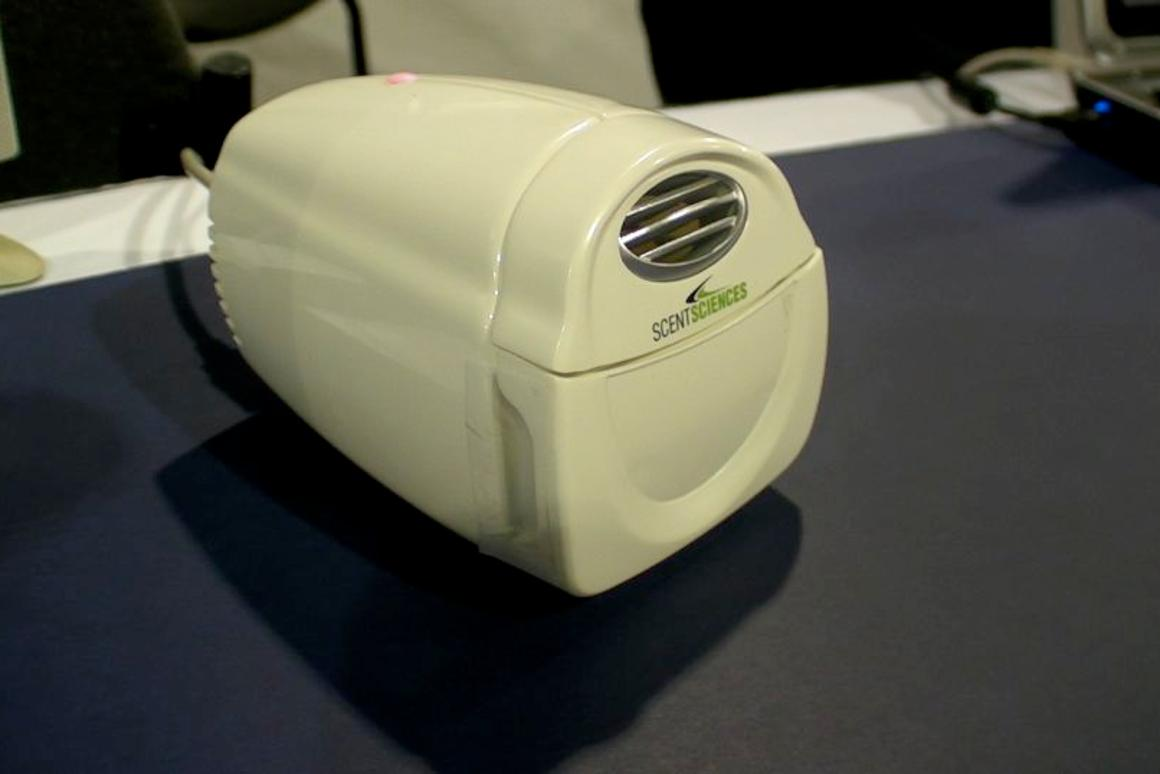 The ScentScape unit that plugs into a PC via USB to produce smells tailored for games and videos