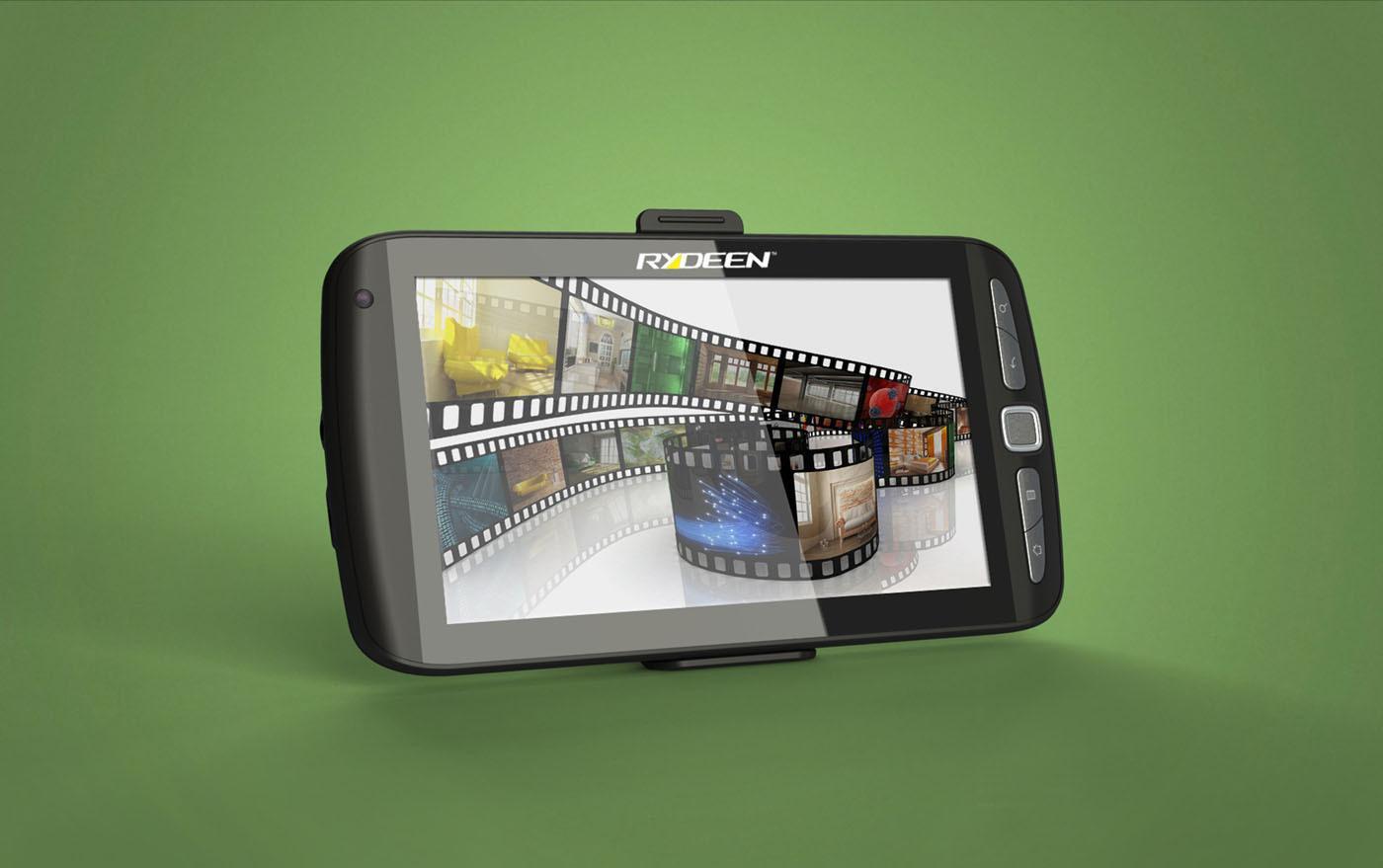 The Rydeen GCOM701 tablet/GPS navigation device