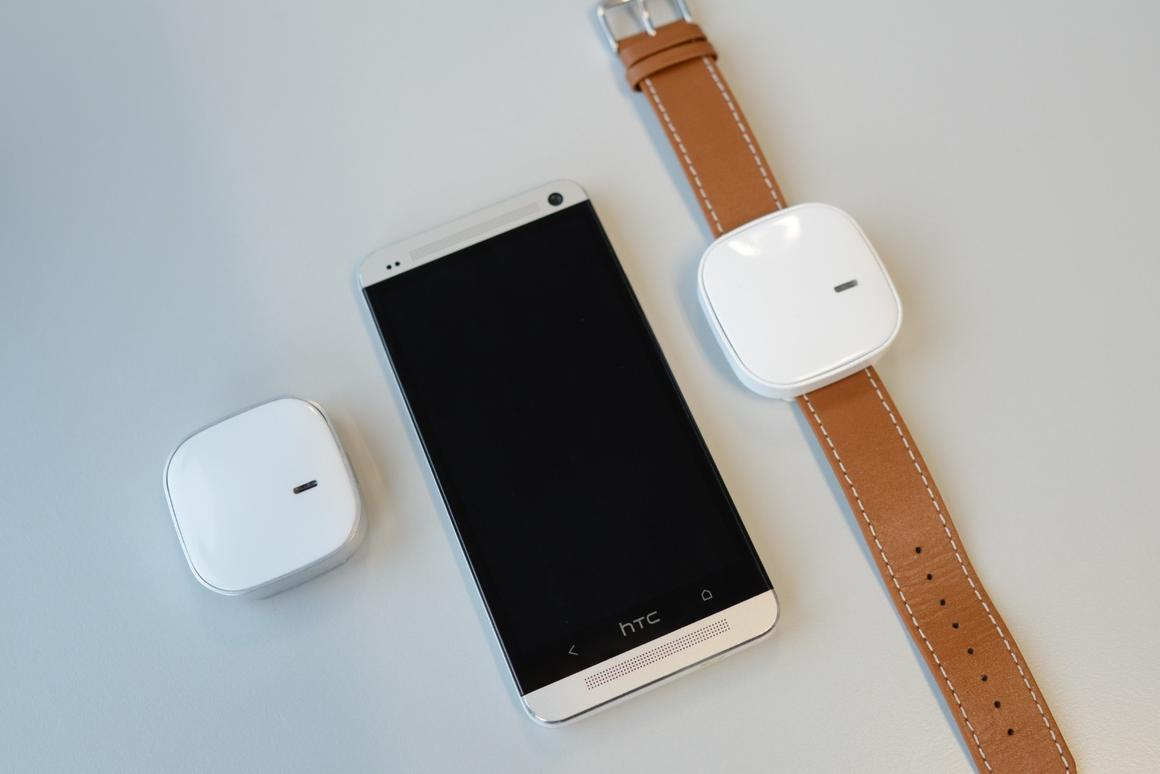 The sensor is worn on wrist, and works with a smartphone app