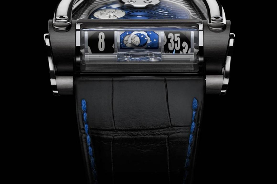 The MoonMachine 2 is world's first watch with a projectedmoonphase display