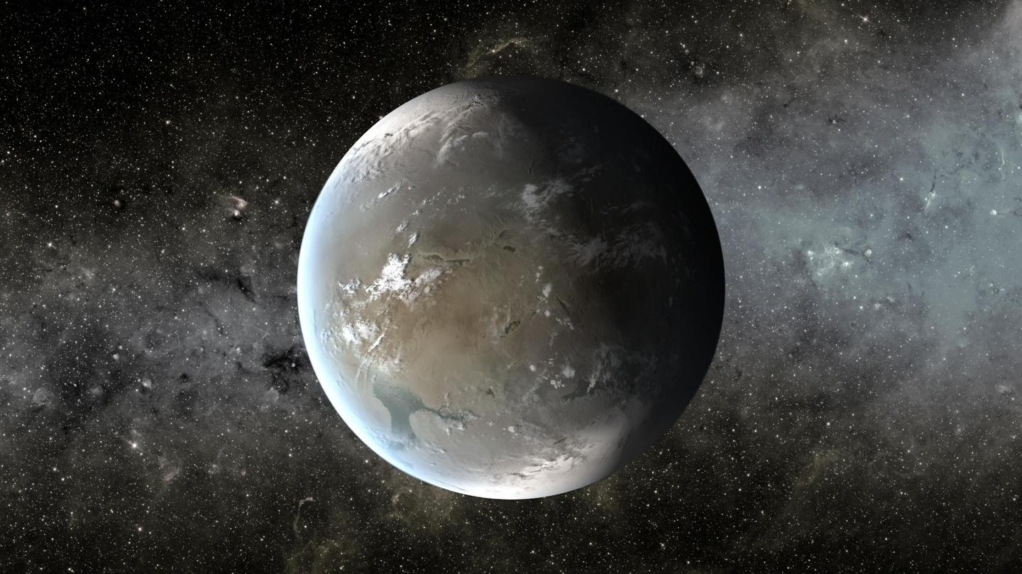 An artist's rendition of Kepler-62f