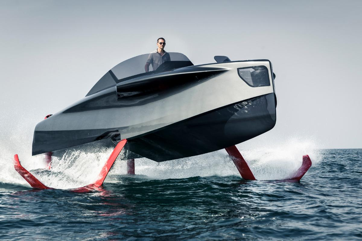 The Foiler is the latest hybrid electric luxury yacht / hydrofoil fusion incorporatesan interesting diesel-electric propulsion system