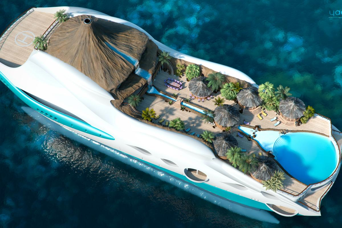 """Yacht Island Design's """"Tropical Island Paradise"""""""