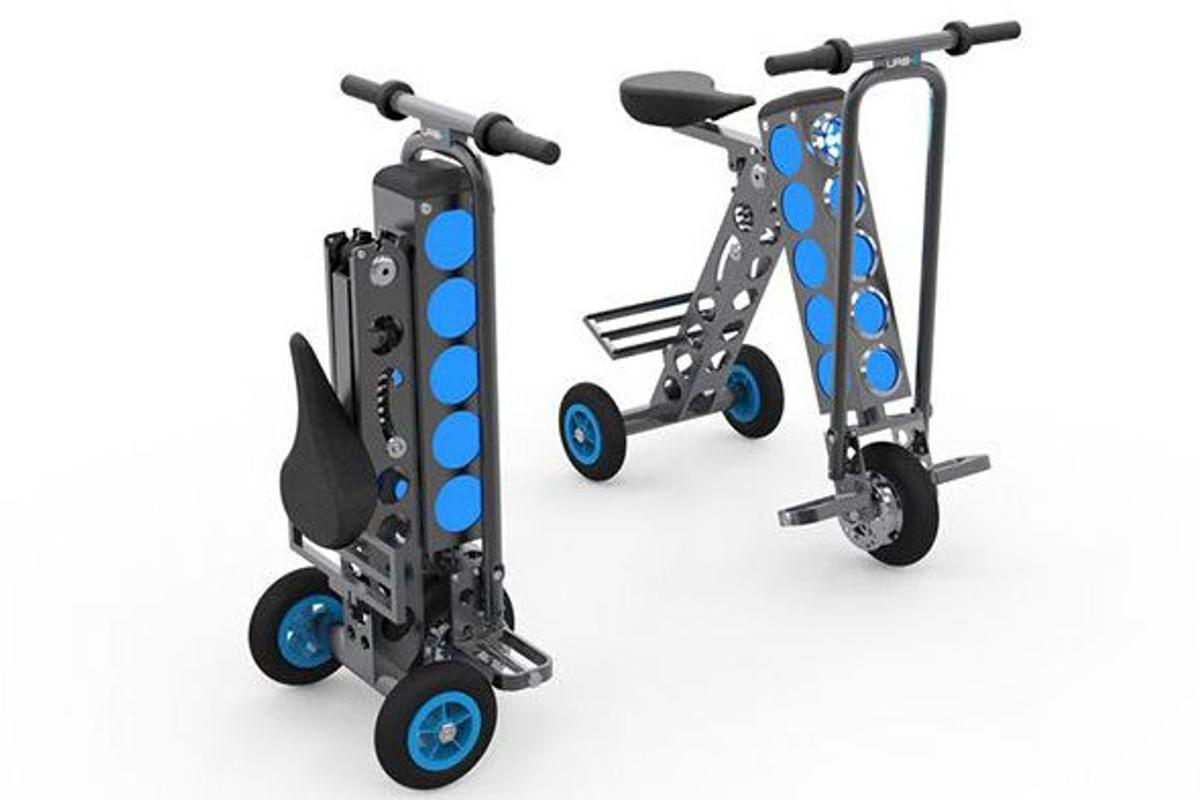 The Urb-E electric riding implement folds into a remarkably compact package (Photo: Urb-E)