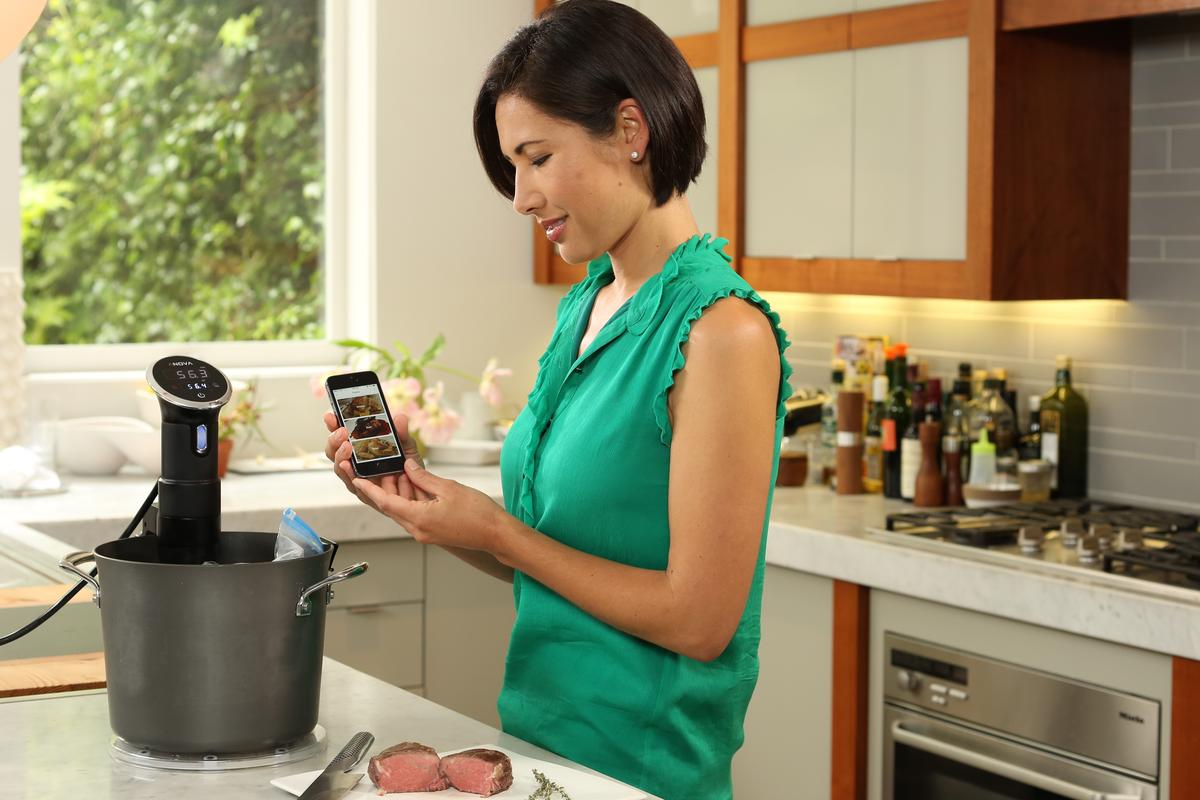The Anova Precision Cooker can be controlled from a smartphone