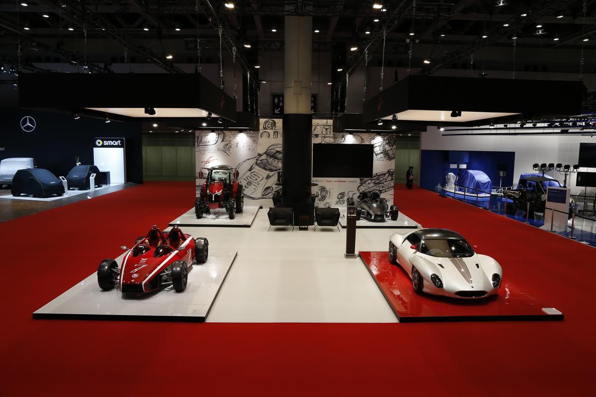 Ken Okuyama's new vehicles on display at the Tokyo Motor Show