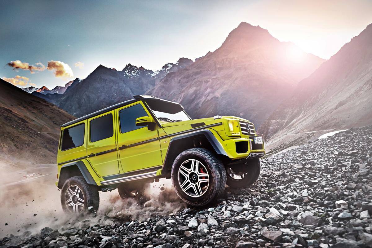 The G 500 4x4 Squared takes advantage of a portal axle setup for unstoppable off road prowess