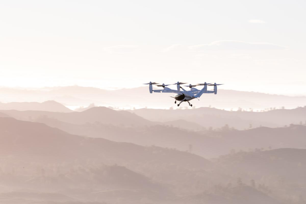 Joby's eVTOL, like others in the class, burns a lot of battery power in hover mode, and can only realize its impressive range figures once in horizontal flight supported by wings
