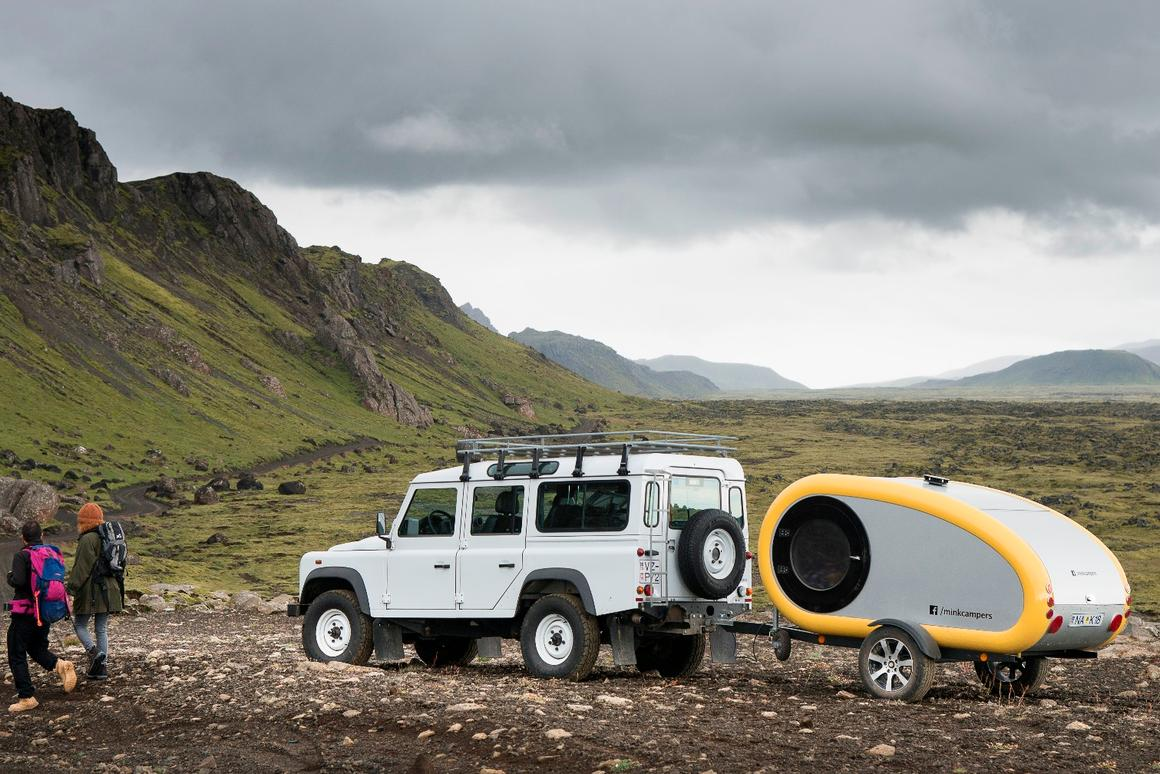 The Mink trailer brings comfy lodging to gorgeous but remoteparts of Iceland
