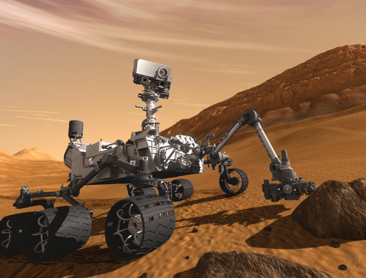 NASA's Mars lander Curiosity has landed safely on Mars (Image: NASA)
