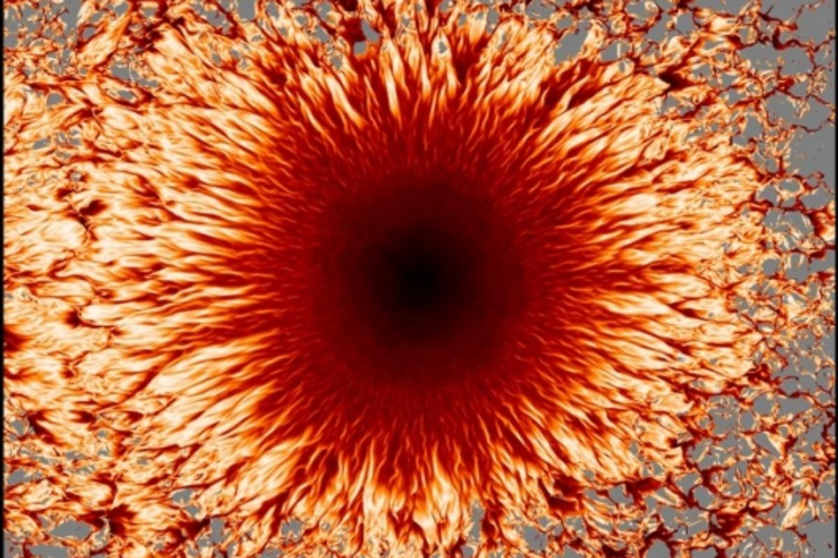 The beauty of sunspots has been revealed through the use of supercomputers (Photos: Matthias Rempel, NCAR)