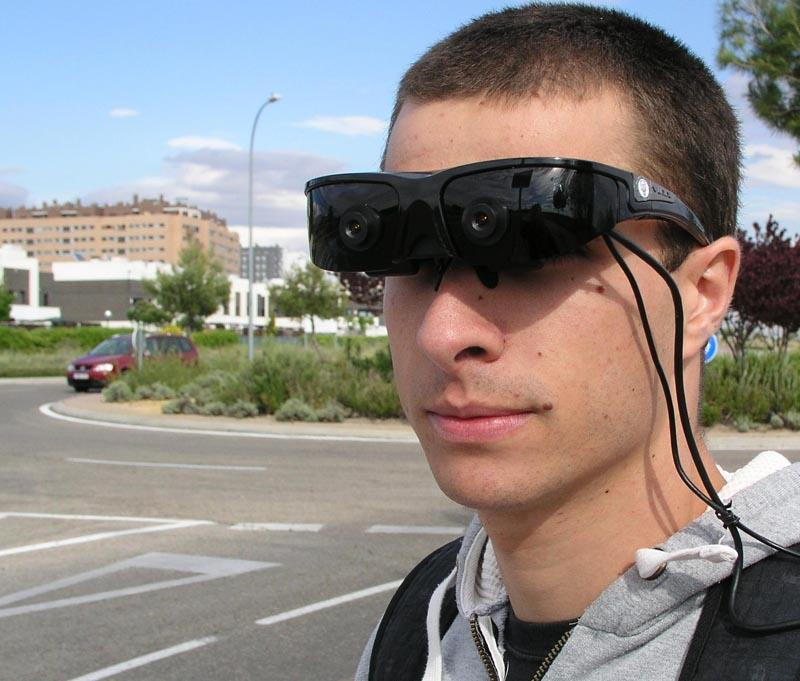 "The ""intelligent"" goggles use computer algorithms to help the partly-sighted navigate"