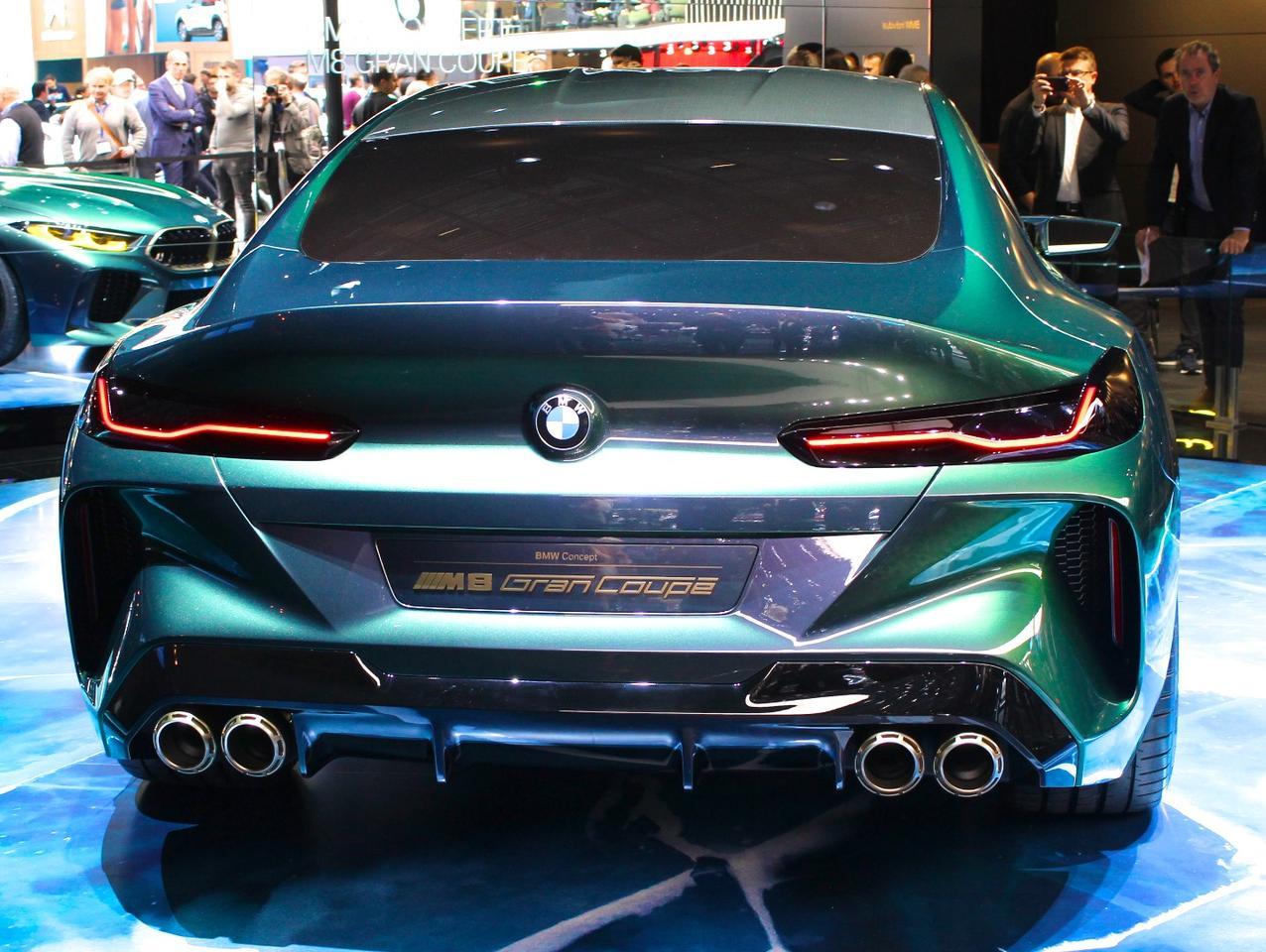 A fastback-styled rear with a pronounced aero lip defines the rear of the BMWM8 Gran Coupe concept