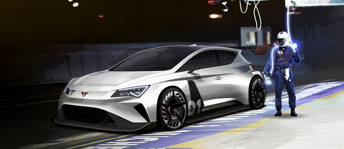 Cupra e-Racer: looking mean as a mean thing