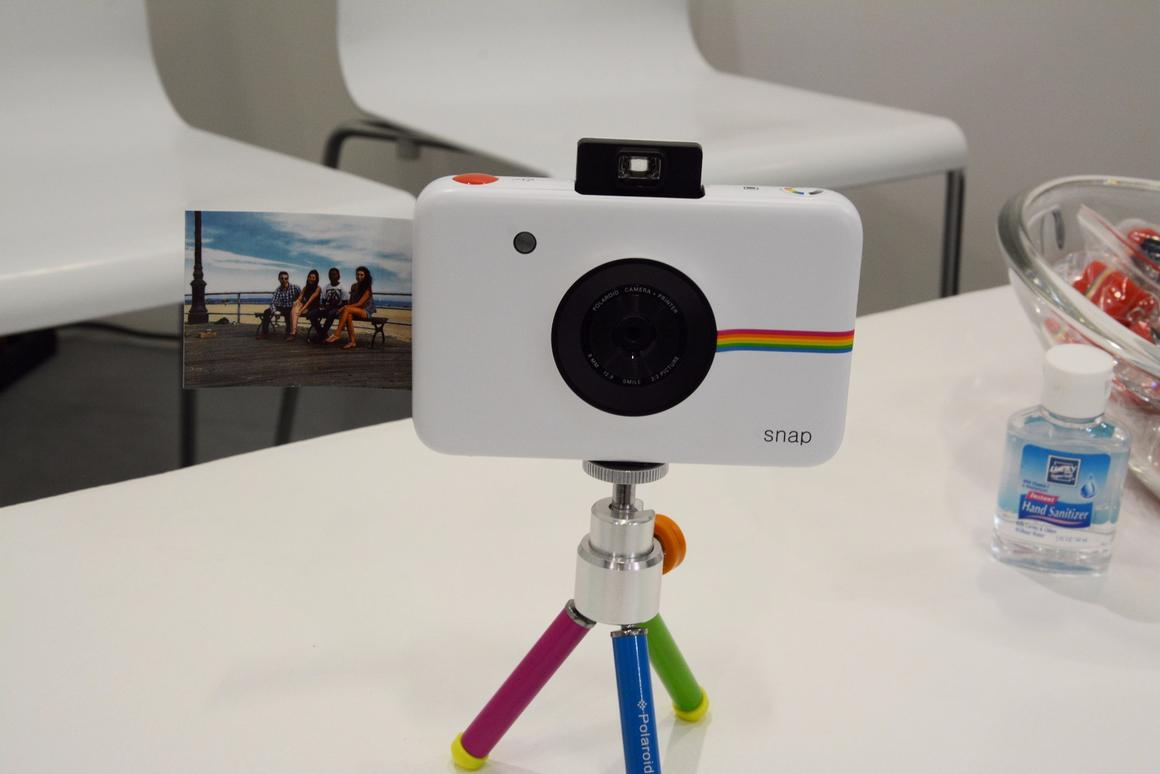 The Polaroid Snap instant digital camera unveiled at IFA 2015 in Berlin