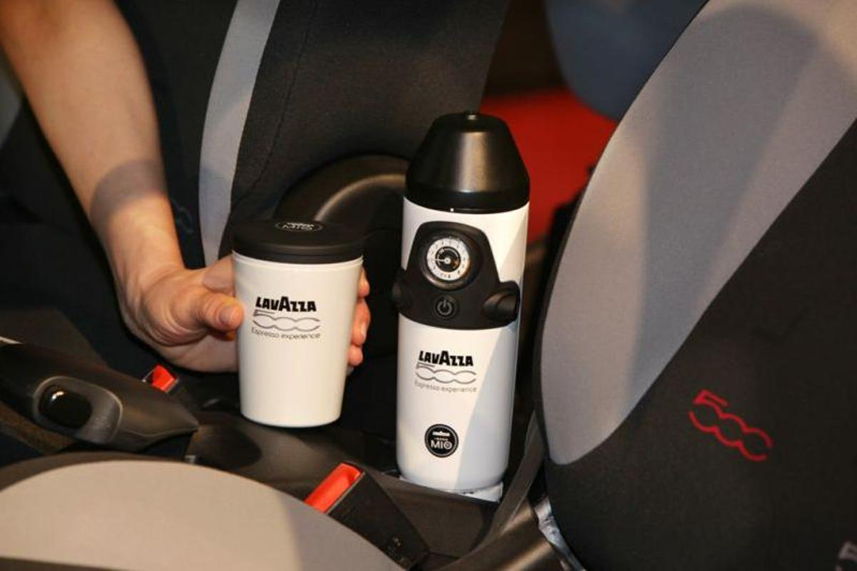 Fiat claims the 500L is the first production car to offer these type of coffee-making capabilities