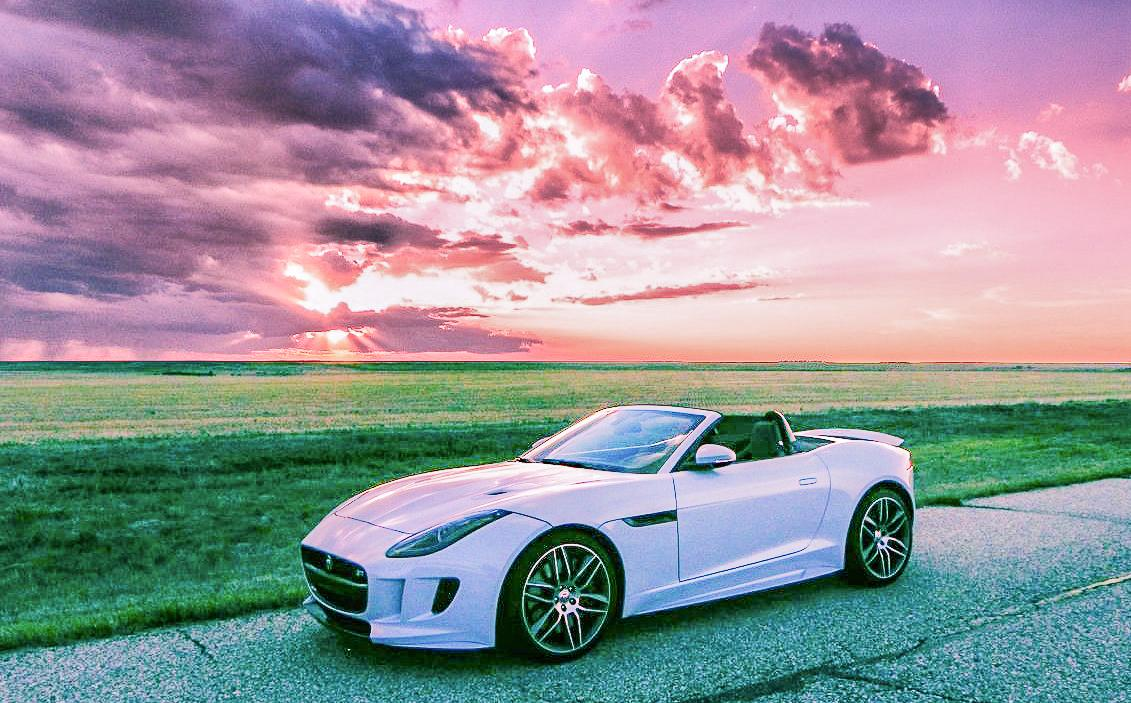 2016 Jaguar F-Type R Convertible at sunset
