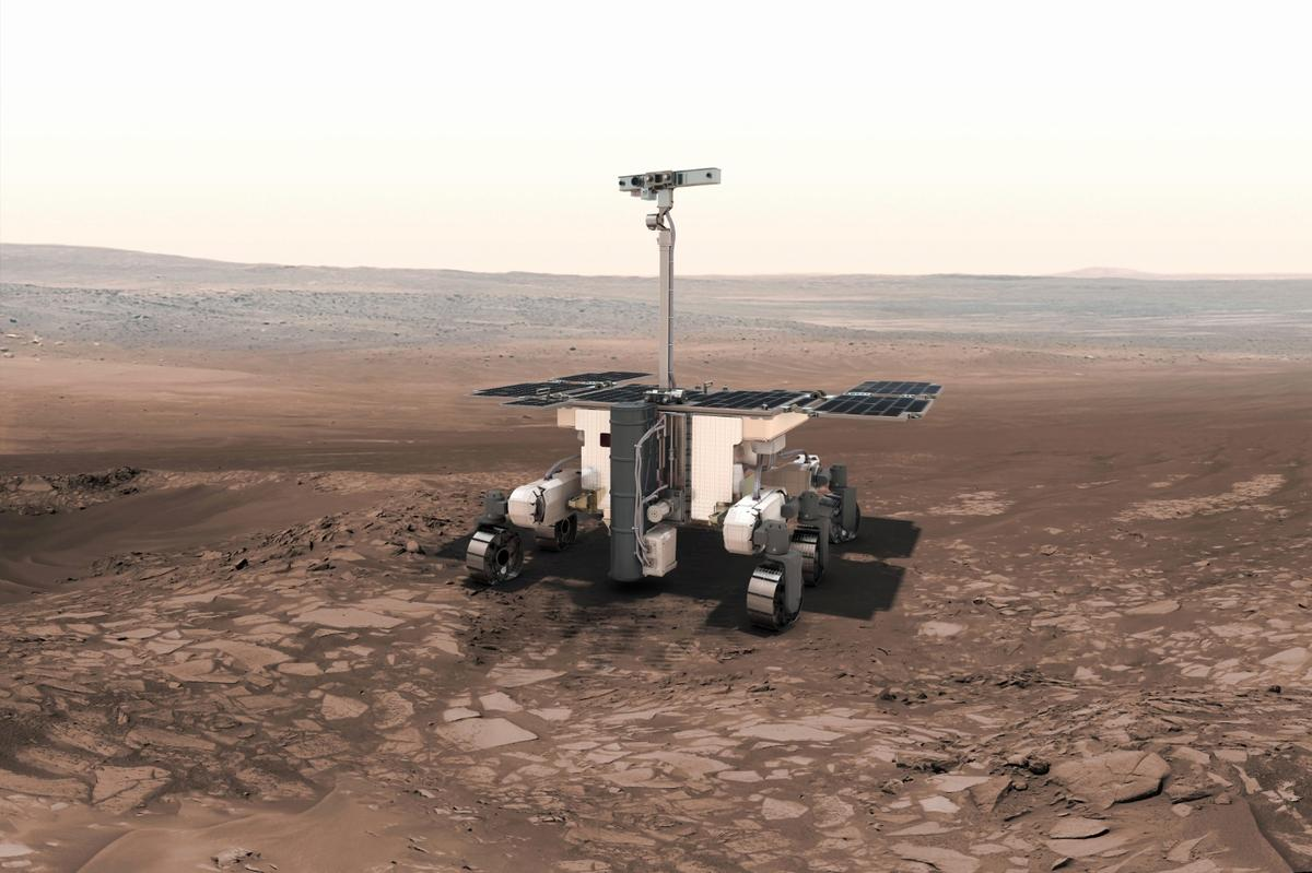 Artist's impression of the 2020 ExoMars Rover
