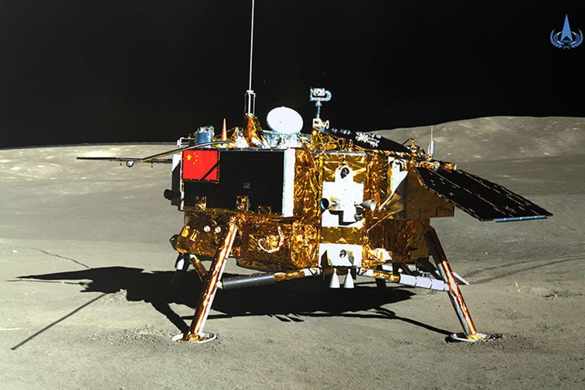 The Chang'e-4 lander, as seen by the Yutu 2 rover